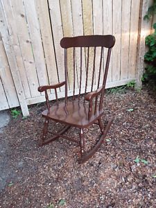 Solid Wood Rocking Chair - Very Good Condition