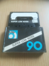 Selection of vintage blank audio cassette tapes
