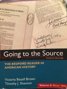 Going to the Source- The Bedford Reader in American History