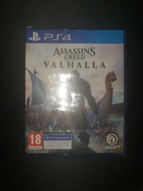 Sealed Assassins Creed Valhalla PS4 version with PS5 Upgrade available