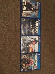 PS4 Games Excellent Condition, For Sale!