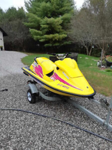 1996 Seadoo XP800 with galvanized trailer.