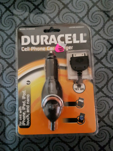Duracell cell phone car charger for iPhone,iPad,iPod touch/nano