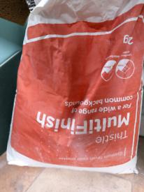 Free half full bag of plastet