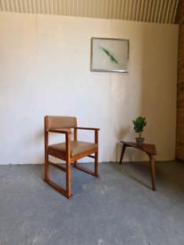 Mid Century Vintage Teak Desk Chair