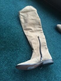 Pied a terre taupe knee high boots - UK 5 - unworn.