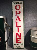 Vintage Originale Enseign Sinclair Opaline Sign Porcelain