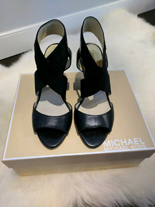 Black Michael Kors Wedges Sz 35.5