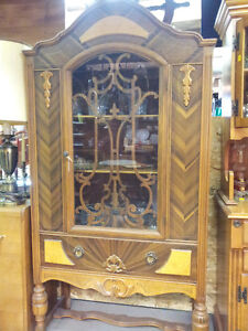 Vintage/Antique Inlaid Display China Cabinet