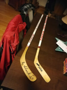 Wayne Gretzky Titan Game hockey stick Vintage 80s plus other