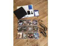 PS3 with games bundle and controller