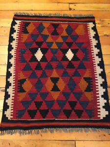 Handwoven traditional kilim from Afghanistan