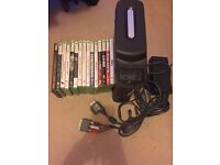 Xbox 360 120gb console with 15 games no controllers