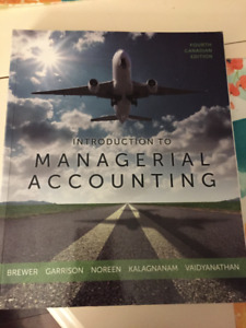 Managerial Accounting Textbook for sale!