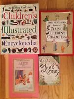 8 books: kids encyclopedia, Alice in wonderland, and more