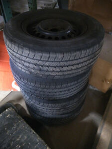 Full Set of Summer and Winter Tires on Rims
