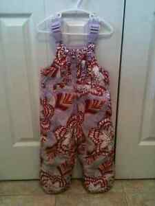 GIRL'S BABY GAP SNOWPANTS SIZE 3 LILAC WITH RED