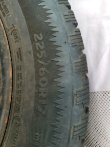 5 Winter Tires P225 60 17