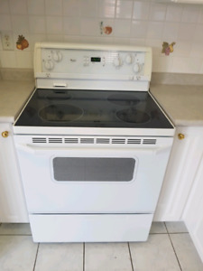 Electric glass top stove