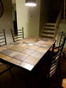 Slate Dining Table with matching chairs