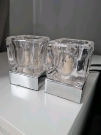 Pair of touch lamps.