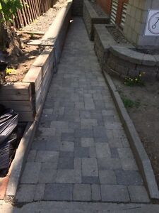 Retaining wall and pave uni