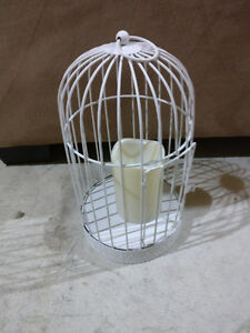 Set of 2 small decorative bird cages with LED candles London Ontario image 2