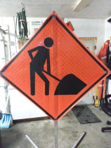 Portable Foldable Construction Sign.  400 or BO.