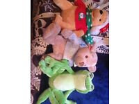 Winnie the Pooh and princess and the frog toys.