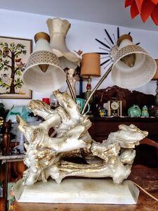 Lampe Retro Unique Vintage Driftwood Lamp