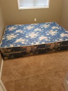 Queen size mattress & box spring