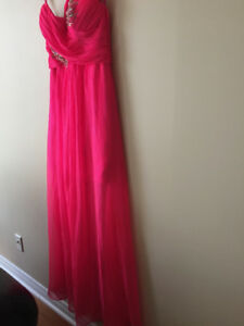 Women's Pink Grad Dress Size Medium - $150