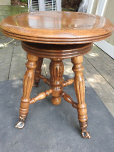 Antique style piano stool- new condition