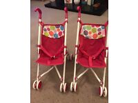 Dolls pram pink ideal for twins