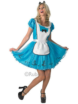 Sexy Halloween Womens Sassy Alice In Wonderland Fancy Dress Costume Outfit S M L