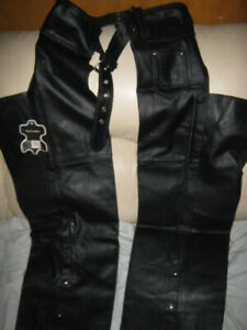 Sofari Collections Leather Motorcycle Riding Chaps Pants New Tag
