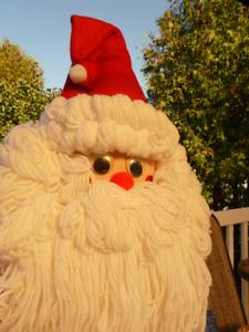Santa face to hang on door