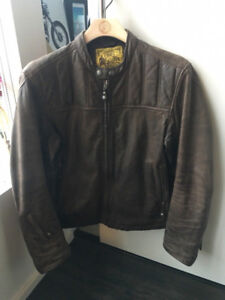 ROLAND SANDS RSD ENZO MOTORCYCLE LEATHER JACKET - Medium, worn