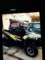 RZR XP 900 2 seater EPS 2013, black with green STOLEN
