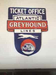 Atlantic Greyhound Line , real porcelain sign... Gatineau Ottawa / Gatineau Area image 5