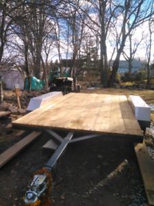 6.5x12.5' Duel Axel Flat Deck Trailer $2,000.00