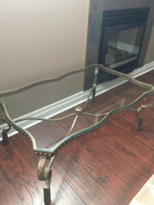 Heavy Bevelled Glass Coffee Table