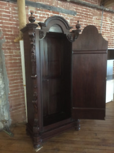 Beautiful carved armoire $650