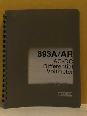 Fluke 294272 893aar Ac-dc Differential Voltmeter Instruction Manual