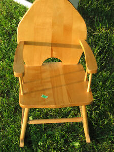 Small Child's Rocking Chair  Real Wood London Ontario image 2