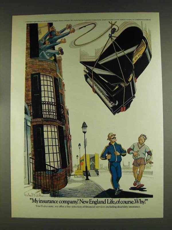 1978 New England Life Insurance Ad - My Insurance Company?