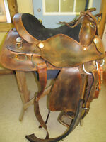 two 16'' western saddles for sale