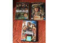 Pirates is the Caribbean, Indiana Jones and Prince of Persia DVDs. £3