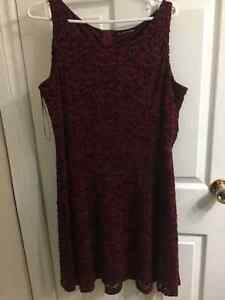 Burgundy Lace Dress and Peek a poo shoes