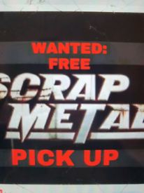 Scrap metal free collection 24/7 all London areas removals